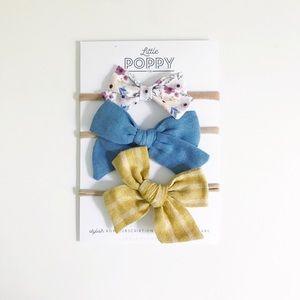 LITTLE POPPY CO Girl's Jan. '19 Inspired Bow Set